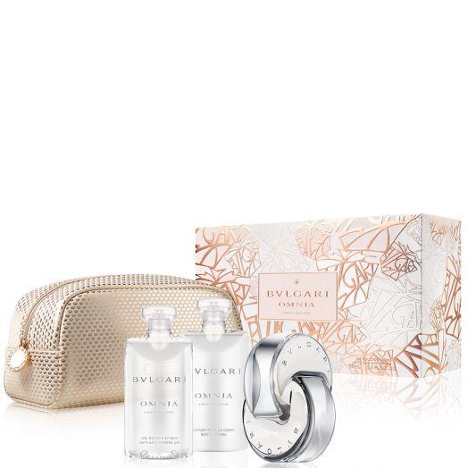 Bvlgari Omnia Crystalline Eau De Toilette Spray 65 Ml + Body + Gel