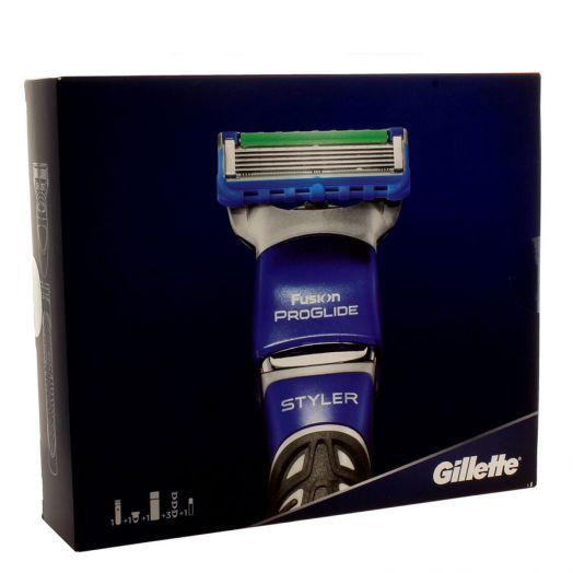 Gillette Fusion Proglide Styler Set Styler + Gel Afeitado + Cargador
