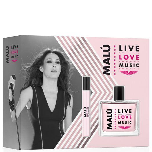 Malú Live Love Music Eau De Toilette Spray 100 Ml + Vial 10 Ml
