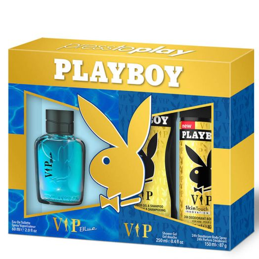 Playboy Vip Blue Spray 60ml + gel + desodorante