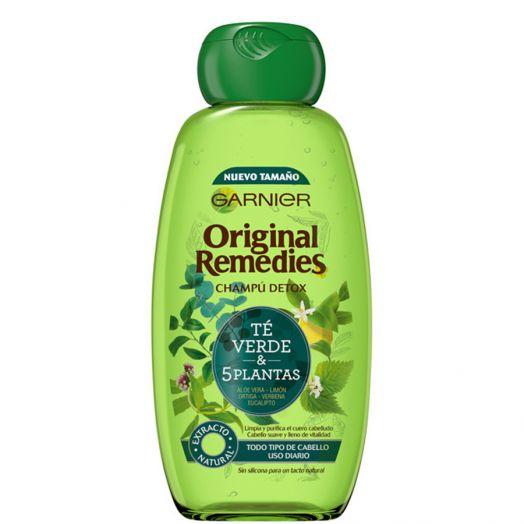 Garnier Original Remedies Champú Detox Té Verde 5 Plantas 300 Ml
