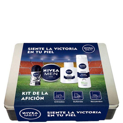 Nivea Men Kit De La Afición Desodorante Roll-on + Crema + After Shave + Espuma De Afeitar