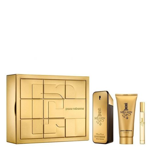 Paco Rabanne 1 Million Eau De Toilette Spray 100 Ml + Gel + Minitalla