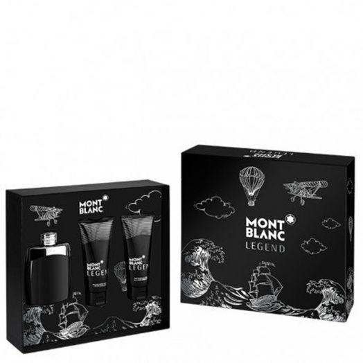 Montblanc Legend Eau De Toilette 100ml Spray + Aftershave + Gel Estuche