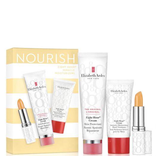 Elizabeth Arden Eight Hour Set Cream 50ml + Protector Labios + Crema De Manos